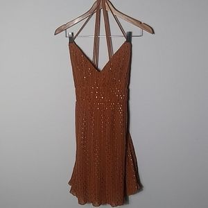 Charlotte Rousse brown & gold NWT dress